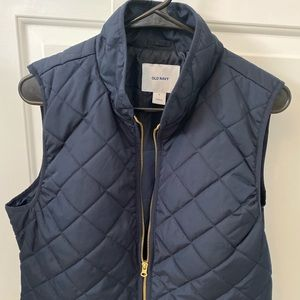 Old Navy Quilted Navy Vest